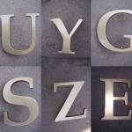 alumínium - réz - bronz feliratok